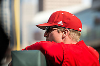 Darin Erstad (17) of the Nebraska Cornhuskers looks on during the 2015 Big Ten Conference Tournament between the Illinois Fighting Illini and Nebraska Cornhuskers at Target Field on May 20, 2015 in Minneapolis, Minnesota. (Brace Hemmelgarn/Four Seam Images)