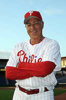 Feb 20, 2009; Clearwater, FL, USA; The Philadelphia Phillies coach Sam Perlozzo (2) during photoday at Bright House Field. Mandatory Credit: Tomasso De Rosa/ Four Seam Images