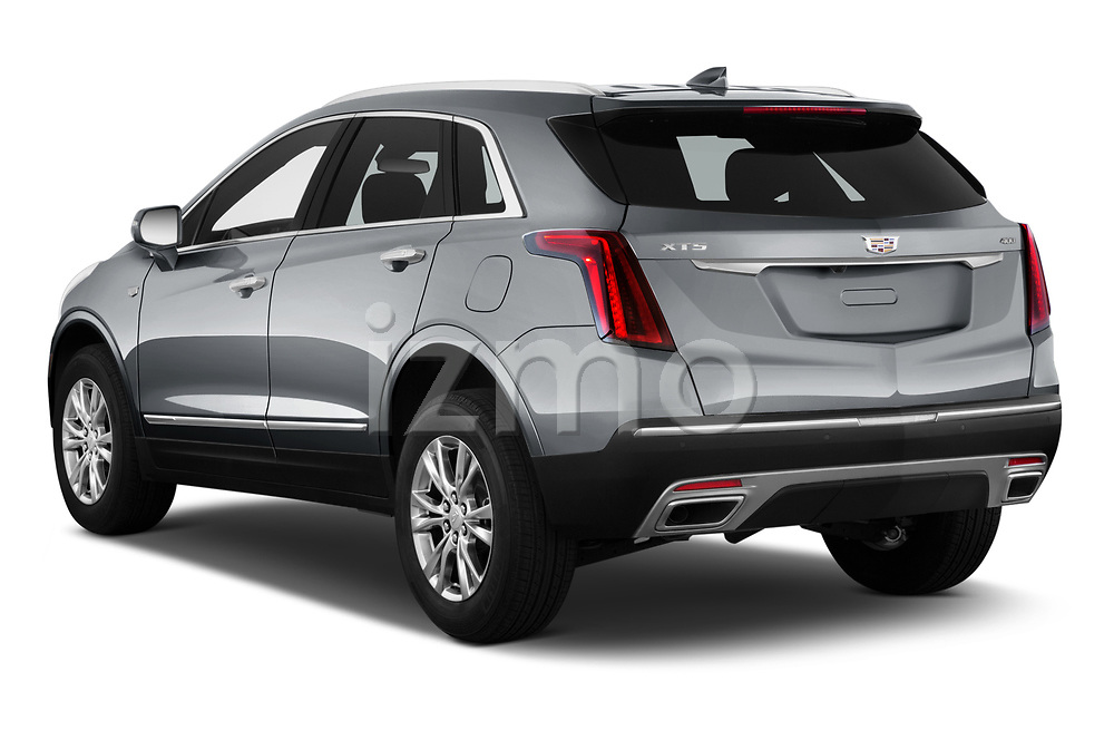Car pictures of rear three quarter view of 2022 Cadillac XT5 Premium-Luxury-2.0L-FWD 5 Door suv Angular Rear