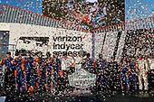 Scott Dixon, Chip Ganassi Racing Honda, podium, team