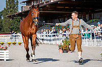AUT-Dr. Harald Ambros presents Lexikon 2 during the First Horse Inspection. 2021 SUI-FEI European Eventing Championships - Avenches. Switzerland. Wednesday 22 September 2021. Copyright Photo: Libby Law Photography