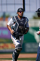 Minnesota Twins catcher David Banuelos (73) during a Major League Spring Training game against the Pittsburgh Pirates on March 16, 2021 at Hammond Stadium in Fort Myers, Florida.  (Mike Janes/Four Seam Images)