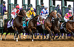 October 31, 2015 :  The field leaves the starting gate during the 14 Hands Winery Breeders' Cup Juvenile Fillies (Grade I) in Lexington, Kentucky on October 31, 2015. Sue Kawczynski/ESW/CSM