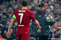 LIVERPOOL, GREAT BRITAN - NOVEMBER 5 : Jurgen Klopp head coach of Liverpool pictured during the UEFA Champions League match between Liverpool FC and KRC Genk on November 05, 2019 in Liverpool, Great Britan, 5/11/2019 <br /> Liverpool 5-11-2019 Anfield <br /> Liverpool - Genk <br /> Champions League 2019/2020<br /> Foto Photonews / Panoramic / Insidefoto <br /> Italy Only