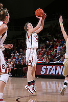 30 December 2007: Hannah Donoghe during Stanford's 77-42 win over the University of Washington at Maples Pavilion in Stanford, CA.
