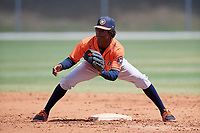 Houston Astros Freudis Nova (98) during a Minor League Spring Training game against the St. Louis Cardinals on March 27, 2018 at the Roger Dean Stadium Complex in Jupiter, Florida.  (Mike Janes/Four Seam Images)