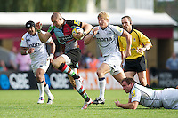 Mike Brown of Harlequins in action during the Aviva Premiership match between Harlequins and Sale Sharks at The Twickenham Stoop on Saturday 15th September 2012 (Photo by Rob Munro)