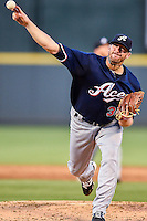 Reno Aces starting pitcher Bo Shultz (30) delivers a pitch during pacific coast league baseball game, Friday August 14, 2014 in Round Rock, Tex. Reno leads Round Rock 10-4 at the bottom of fifth inning in the last game of best of three series. (Mo Khursheed/TFV Media via AP Images)