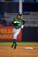 Daytona Tortugas Andy Sugilio (25) rounds the bases after hitting a home run during a Florida State League game against the Tampa Tarpons on May 17, 2019 at George M. Steinbrenner Field in Tampa, Florida.  Daytona defeated Tampa 8-6.  (Mike Janes/Four Seam Images)