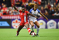 Vancouver, Canada - Thursday November 09, 2017: Deanne Rose, Casey Short during an International friendly match between the Women's National teams of the United States (USA) and Canada (CAN) at BC Place.