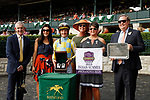"""October 07, 2018 : #2 Silver Strike and jockey Julien Leparoux win the 1st running of The Indian Summer $200,000 """"Win and You're In Breeders' CupJuvenile Turf Sprint Division"""" for trainer Mark Casse and owner John Oxley  at Keeneland Race Course on October 07, 2018 in Lexington, KY.  Candice Chavez/ESW/CSM"""