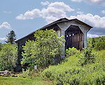 Fisher Bridge, a railroad covered bridge that spans the Lamoille River in Wolcott, Vermont, is the last railroad covered bridge in regular use in Vermont.