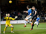 Dundee v St Johnstone…29.12.18…   Dens Park    SPFL<br />Tony Watt heads over the bar<br />Picture by Graeme Hart. <br />Copyright Perthshire Picture Agency<br />Tel: 01738 623350  Mobile: 07990 594431