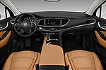 Stock photo of straight dashboard view of a 2018 Buick Enclave Premium 5 Door SUV