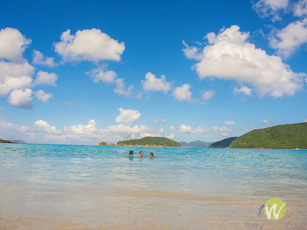 Saint John, Caribbean, USVI. Cinnamon Bay Beach.