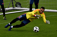 BOGOTÁ - COLOMBIA, 24-05-2018: David Ospina, guardameta de la Selección Colombia, durante entrenamiento en el Estadio Nemesio Camacho El Campín, en Bogotá. Colombia se prepara para la próxima la Copa Mundo FIFA 2018 Rusia. / David Ospina, goalkeeper of the Colombia Team, during training at the Nemesio Camacho El Campin stadium, in Bogotá city. Colombia prepares for the next 2018 FIFA World Cup Russia. Photo: VizzorImage / Luis Ramirez /Staff.