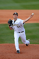 Central Florida Knights pitcher Chris Matulis #41 during a game against the Siena Saints at Jay Bergman Field on February 16, 2013 in Orlando, Florida.  Siena defeated UCF 7-4.  (Mike Janes/Four Seam Images)