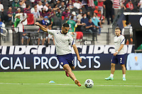 LAS VEGAS, NV - AUGUST 1: Sebastian Lletget #17 of the United States before a game between Mexico and USMNT at Allegiant Stadium on August 1, 2021 in Las Vegas, Nevada.