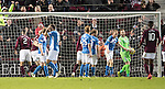 Hearts v St Johnstone…05.11.16  Tynecastle   SPFL<br />Zander Clark shows his frustration as Callum Paterson scores a late equaliser<br />Picture by Graeme Hart.<br />Copyright Perthshire Picture Agency<br />Tel: 01738 623350  Mobile: 07990 594431