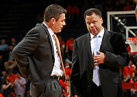 CHARLOTTESVILLE, VA- NOVEMBER 26:  Head coach Tony Bennett, left, of the Virginia Cavaliers talks with associate head coach Ritchie McKay, right, during the game on November 26, 2011 at the John Paul Jones Arena in Charlottesville, Virginia. Virginia defeated Green Bay 68-42. (Photo by Andrew Shurtleff/Getty Images) *** Local Caption *** ritchie McKay;Tony Bennett