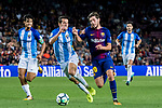 Sergi Roberto Carnicer (r) of FC Barcelona competes for the ball with Luis Hernandez Rodriguez of Malaga CF during the La Liga 2017-18 match between FC Barcelona and Malaga CF at Camp Nou on 21 October 2017 in Barcelona, Spain. Photo by Vicens Gimenez / Power Sport Images