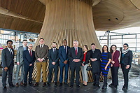 "Pictured: Chantelle Madonia (2nd R) with the First Minister for Wales Carwyn Jones at the Senedd, Cardiff.<br /> Re: Chantelle Madonia from Cardiff, south Wales, has died while on a ""dream trip"" to Australia.<br /> Chantelle, 23 was spending a year travelling there after completing a master's degree in global governance at the University of South Wales.<br /> She died in her sleep from a heart condition, her family said.<br /> Her mother, Lisa Madonia, said: ""I am heartbroken, but it comforts me to know that Chantelle died living her dream.""<br /> Mrs Madonia, of Cardiff, said her daughter had been five months into a year-long trip to Australia and had been working as a waitress in Sydney to pay for her travels."