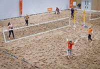 The Hague, The Netherlands, Februari 8, 2020,    Sportcampus, FedCup  Netherlands -  Balarus, Beachtennis<br /> Photo: Tennisimages/Henk Koster