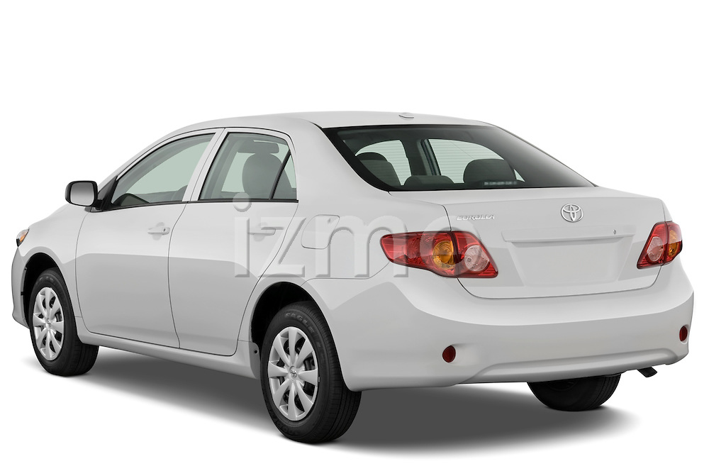 Rear three quarter view of a 2009 Toyota Corolla 4 Door