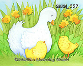 Kate, EASTER, OSTERN, PASCUA, paintings+++++Duck with ducklings.,GBKM557,#e#, EVERYDAY ,ducks,