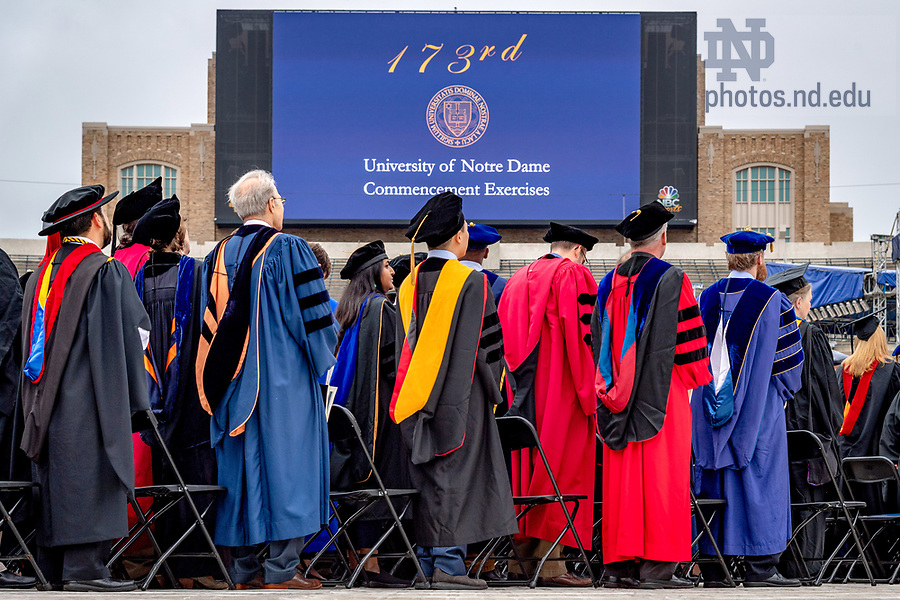 May 20, 2018; Commencement 2018 (Photo by Matt Cashore/University of Notre Dame)