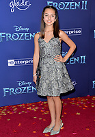 """LOS ANGELES, USA. November 08, 2019: Mattea Conforti at the world premiere for Disney's """"Frozen 2"""" at the Dolby Theatre.<br /> Picture: Paul Smith/Featureflash"""