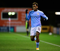 Manchester City U21's Jayden Braaf<br /> <br /> Photographer Chris Vaughan/CameraSport<br /> <br /> EFL Papa John's Trophy - Northern Section - Group E - Lincoln City v Manchester City U21 - Tuesday 17th November 2020 - LNER Stadium - Lincoln<br />  <br /> World Copyright © 2020 CameraSport. All rights reserved. 43 Linden Ave. Countesthorpe. Leicester. England. LE8 5PG - Tel: +44 (0) 116 277 4147 - admin@camerasport.com - www.camerasport.com