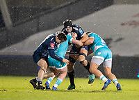 8th January 2021; AJ Bell Stadium, Salford, Lancashire, England; English Premiership Rugby, Sale Sharks versus Worcester Warriors;  Josh Beaumont of Sale Sharks assisted by Tom Curry attacks the Worcester defensive line