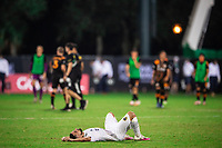 LAKE BUENA VISTA, FL - JULY 23: Sebastian Lletget #17 of the LA Galaxy after the game during a game between Los Angeles Galaxy and Houston Dynamo at ESPN Wide World of Sports on July 23, 2020 in Lake Buena Vista, Florida.