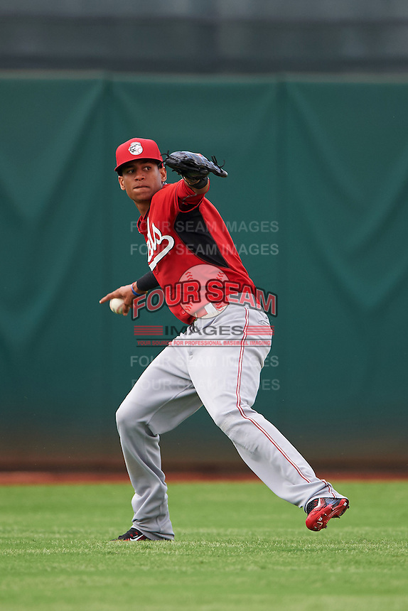 Cincinnati Reds Jose Siri (81) during an instructional league game against the Cleveland Indians on October 17, 2015 at the Goodyear Ballpark Complex in Goodyear, Arizona.  (Mike Janes/Four Seam Images)