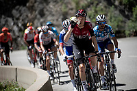 eventual stage winner Dylan van Baarle (NED/Ineos) is part of the day's breakaway group of 13<br /> <br /> Stage 8: Cluses (FRA) to Champéry (SUI)(113km)<br /> 71st Critérium du Dauphiné 2019 (2.UWT)<br /> <br /> ©kramon