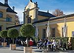Oesterreich, Salzburger Land, Salzburg: Schloss Hellbrunn, Cafe, Restaurant | Austria, Salzburger Land, Salzburg: Castle Hellbrunn, cafe, restaurant
