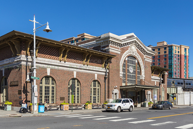 The Metro-North train station in downtown Yonkers, New York.