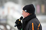 MARTELL-VAL MARTELLO, ITALY - FEBRUARY 02: Flower ceremony after the Women 7.5 km Sprint at the IBU Cup Biathlon 6 on February 02, 2013 in Martell-Val Martello, Italy. (Photo by Dirk Markgraf)