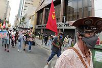 Campinas (SP), 29/05/2021 - Protesto - Um ato contra o governo Jair Bolsonaro (sem partido) reúne manifestantes no Centro de Campinas (SP), na manhã deste sábado (29).