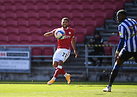 27th September 2020; Ashton Gate Stadium, Bristol, England; English Football League Championship Football, Bristol City versus Sheffield Wednesday; Nahki Wells of Bristol City crosses the ball into the penalty area