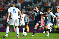 Glasgow, Scotland - July 25, 2012: Carli Lloyd of the US women's national team during USA's 4-2 win over France.