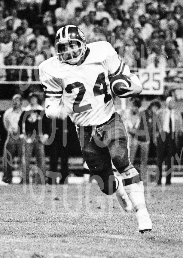 Tom Campana Saskatchewan Roughriders 1976. Photo F. Scott Grant