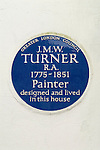 Turners House Sandycombe Lodge, 40 Sandycoombe Road Twickenham in the London Borough of Richmond upon Thames  Blue Plaque. London UK
