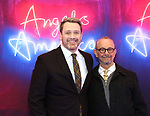 "Michael Arden and Joel Grey attends the Broadway Opening Night Arrivals for ""Angels In America"" - Part One and Part Two at the Neil Simon Theatre on March 25, 2018 in New York City."