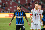 FC Internazionale Forward Gabriel Barbosa (L) reacts during the International Champions Cup match between FC Bayern and FC Internazionale at National Stadium on July 27, 2017 in Singapore. Photo by Marcio Rodrigo Machado / Power Sport Images