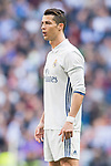 Cristiano Ronaldo of Real Madrid looks on during their La Liga match between Real Madrid and Deportivo Alaves at the Santiago Bernabeu Stadium on 02 April 2017 in Madrid, Spain. Photo by Diego Gonzalez Souto / Power Sport Images