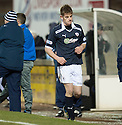 Raith's Dougie Hill heads for an early bath after being sent off  ...