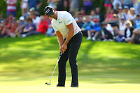 Henrik Stenson on the 17th green during the BMW PGA Golf Championship at Wentworth Golf Course, Wentworth Drive, Virginia Water, England on 27 May 2017. Photo by Steve McCarthy/PRiME Media Images.