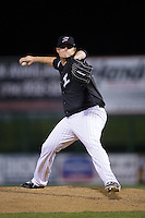 Kannapolis Intimidators relief pitcher Brannon Easterling (38) in action against the Hickory Crawdads at Kannapolis Intimidators Stadium on April 8, 2016 in Kannapolis, North Carolina.  The Crawdads defeated the Intimidators 8-2.  (Brian Westerholt/Four Seam Images)
